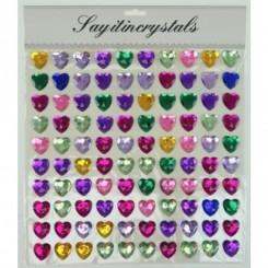 Stickers pop up, hjerte, multifarvet