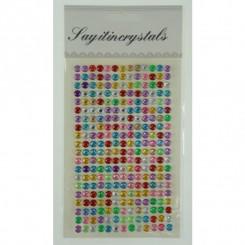 Stickers pop up, multifarvet diamanter