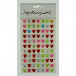 Stickers pop up, multifarvet hjerter