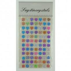 Stickers pop up, multifarvet mandala