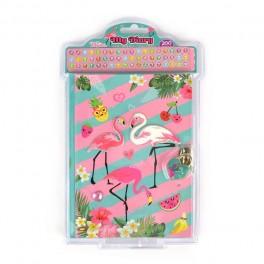 Dagbog, Flamingo, 18x14cm