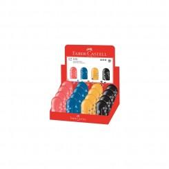 Faber Castell blyantspidser, fodspor, med etui