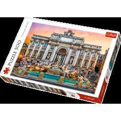 Puslespil Fontaine de Trevi, Rome, 500 brikker