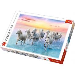 Puslespil hvide heste, 500 brikker