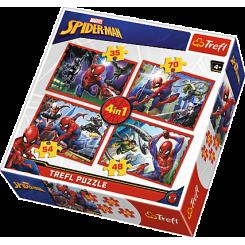 Puslespil 4 i 1, Spiderman, 35, 48, 54, 70 brikker