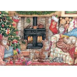 Puslespil, Christmas cats, 500 brikker