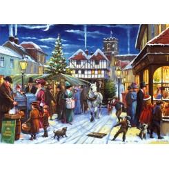 Puslespil, Christmas market, 500 brikker