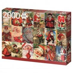 Puslespil traditionel julemand, 2000 brikker