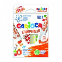 CARIOCA Stempeltusser 6 stk. ass