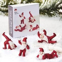 Retro julemænd, porcelæn, fjollede.