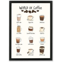 Mouse & Pen illustration A4 - World of Coffee