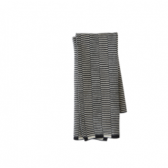 OYOY STRINGA MINI TOWEL - Anthracite/Offwhite