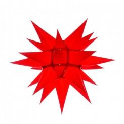 Adventsstjerne, papir, 40 cm, usamlet, rød