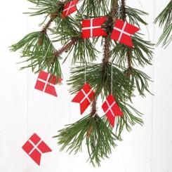 Flagranke, træ, 12 flag, 1,3 m.