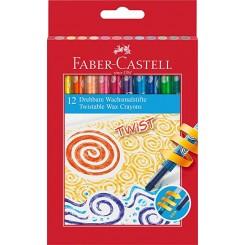 Faber Castell Twistable voks farvekridt 12 stk.