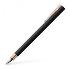 Faber Castell NEO Slim Fyldepen Black/Rosegold M
