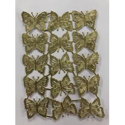 Glansbilleder små sommerfugle guld