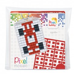 Pixel mosaic nøglering - Racebil