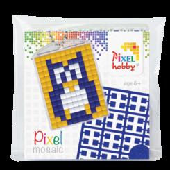 Pixel mosaic nøglering - Ugle