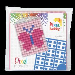 Pixel mosaic nøglering - Sommerfugl