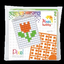 Pixel mosaic nøglering - Blomst