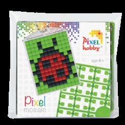 Pixel mosaic nøglering - Mariehøne