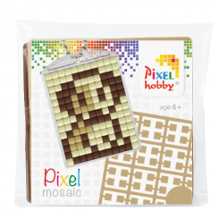 Pixel mosaic nøglering - Hund