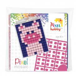 Pixel mosaic nøglering - Gris