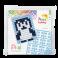 Pixel mosaic nøglering - Pingvin