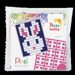 Pixel mosaic nøglering - Kanin