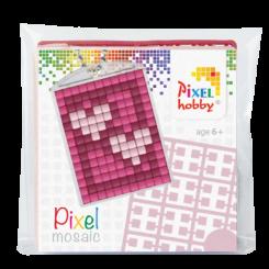 Pixel mosaic nøglering - Hjerter
