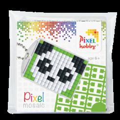 Pixel mosaic nøglering - Panda