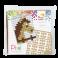Pixel mosaic nøglering - Hest