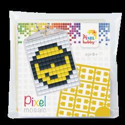Pixel mosaic nøglering - Smiley