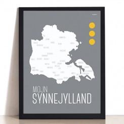 MutMut plakat 50 x 70 cm - Mojn Synnejylland