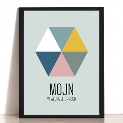 MutMut plakat 30 x 40 cm - Mojn vi ælske æ sproch