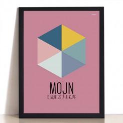 MutMut plakat 30 x 40 cm - Mojn & muttes å æ kjaf
