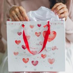 Valentins gavepose, luftballon/hjerter
