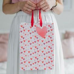 Valentins gavepose, hjerter