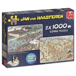 Puslespil Jan van Haasteren, Ice Tour, 2 i 1, 1000 brikker