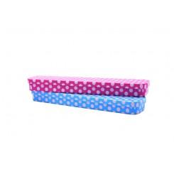 Penalhus metal dots pink