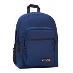 City old schooler rygsæk, mørkeblå