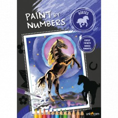 Paint by numbers, heste