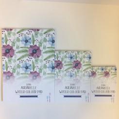 Sense Akvarelblok - Blomster - A4