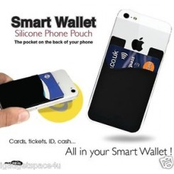 Smartphone wallet, sort