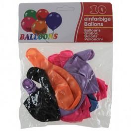 Latex balloner, metallic 10 stk., assorteret
