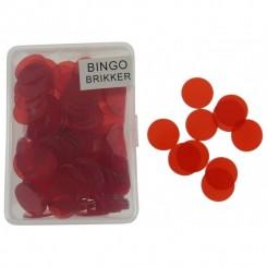 Banko brikker rød, 100 stk.
