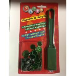 Banko stang med magnet & 100 brikker, assorteret farver
