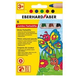 EberhardFaber Jumbo Farveblyanter 6 stk.
