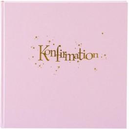 Goldbuch konfirmations album, lyserød